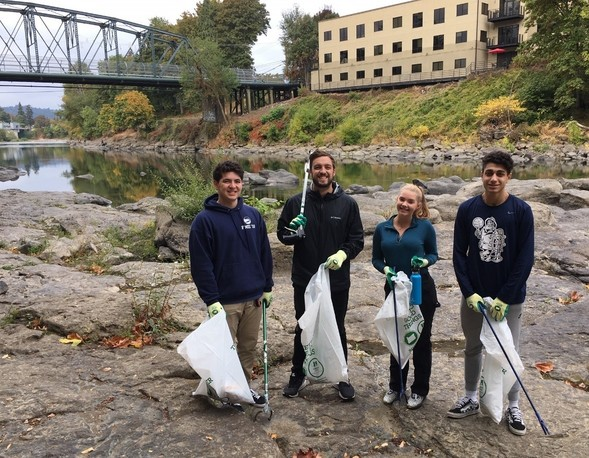 Clackamas River cleanup.