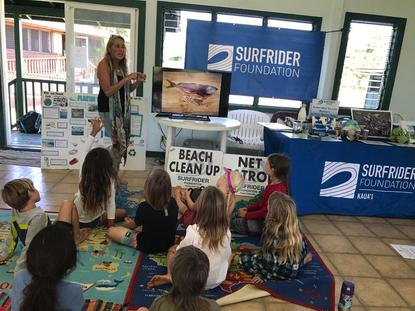 First grade students learn about marine debris.