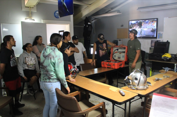 Class introduction to underwater diver equipment.