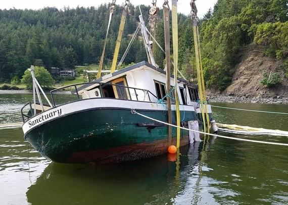 Removal of a sunken vessel.
