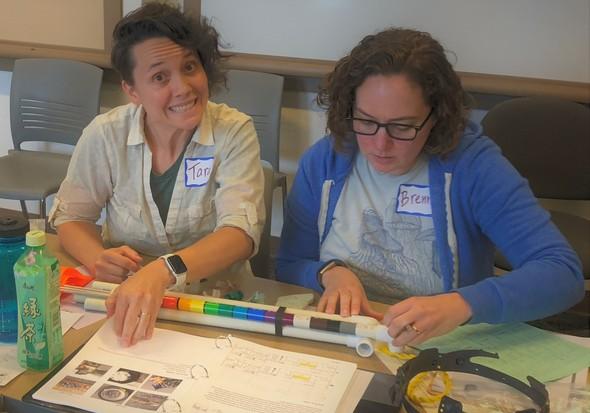 Training participants practice characterizing marine debris.