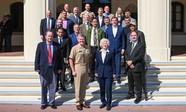 Commander, U.S. Pacific Fleet, Adm. Samuel Paparo with NPS leaders