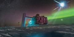 IceCube Observatory in the dark