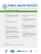 Cover for Public Health Reports v. 134, no. 15, May-June 2019