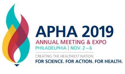 APHA 2019 Annual Meeting & Expo, Philadelphia, Nov 2-6, Creating the Healthiest Nation: For Science. For Action. For Health