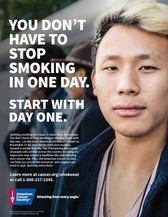 You don't have to quit smoking in one day. Start with day one.