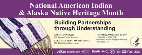 National American Indian/Alaska Native Heritage Month Event, November 14, 10 am ET in Washington, DC