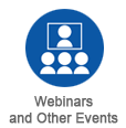 webinars and other events