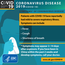 CDC COVID-19 Symptoms Infographic