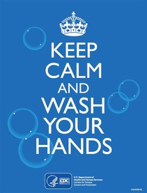 CDC Poster: Keep Calm and Wash Your Hands