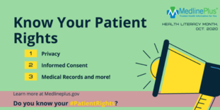 know your patient rights medlineplus infographic