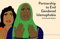 Cover detail for the Partnership to End Gendered Islamophobia report