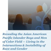 Detail from the cover for the Revealing the Asian American Pacific Islander Boys and Men of Color Field report