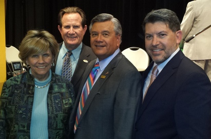 Photo: Maria Hughes, Mayor Morrison, Ruben Garcia and Miguel Vasquez