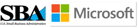 SBA and Microsoft Logos