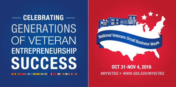 National Veteran Small Business Week Graphic