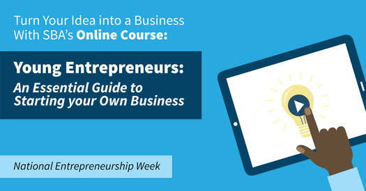 National Entrepreneurship Week Starting a Business Online Course