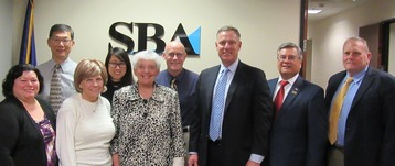 Group Photo: SBA San Diego District Office employees with Congressman Scott Peters
