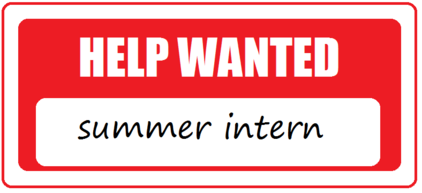 help wanted: summer intern