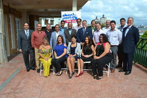 SBA Disttrict Director Yvette Collazo and Group of Emerging Leaders