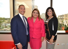 Michael Morales, Congresswoman Jenniffer Gonzalez, and Yvette Collazo