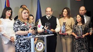 Congresswoman Jenniffer González, Yvette Collazo and Small Business Owners