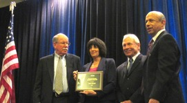 Group Photo: Helen Johnson receiving her award