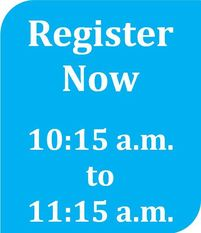 register now 10:15 to 11:15