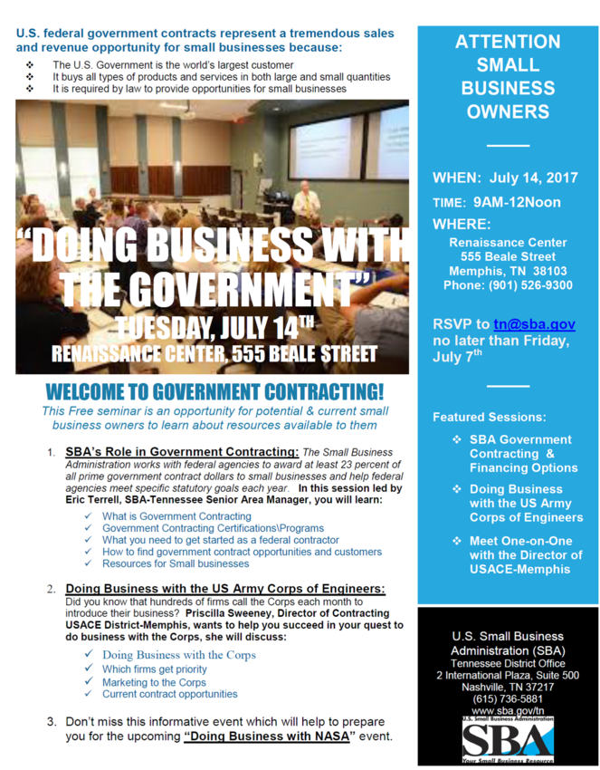 Doing Business With Gov 7-14-2017