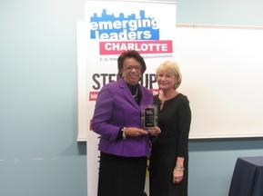Lynn Douthett gives special Award