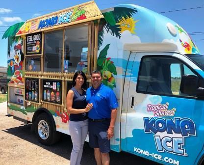 Randy and Yvette Maldonado, owners of Koastal Kona Ice of Corpus Christi
