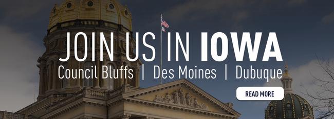 Iowa please join us