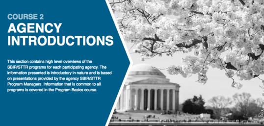 Course 2 Agency Introductions with image of Jefferson Memorial and Cherry Blossoms