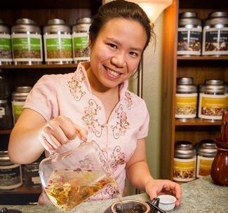 Jenny Tse, Sipping Streams Tea Company in Fairbanks, Alaska