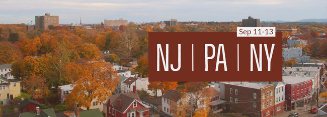 NJ, PA, NY September 11-13