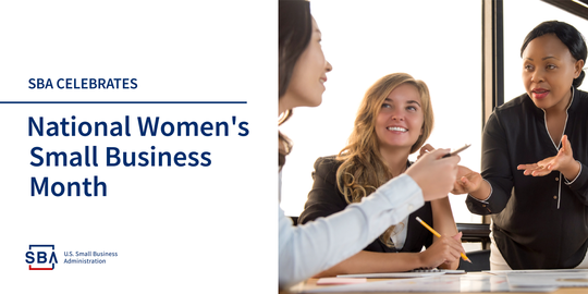 SBA 2018 National Womens Business Month graphic
