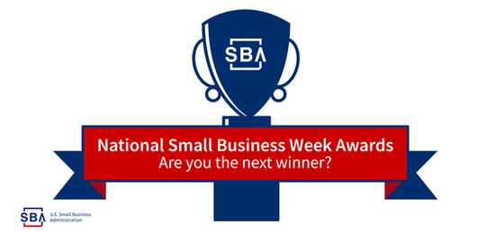 SBA 2018 National Small Business Week Awards graphic