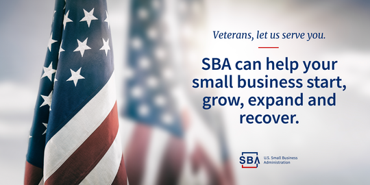 Veterans, let us serve you. SBA can help your small business start, grow, expand and recover.