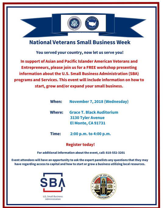 SBA & WHIAAPI celebrate National Veterans Small Business Week