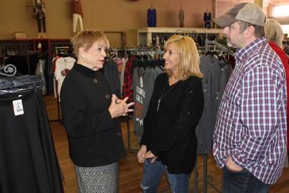 Dottie Overal visits One Faith Boutique