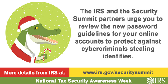 IRS National Tax Security Awareness Week Graphic