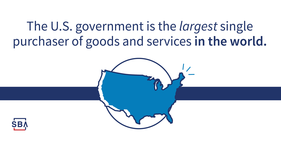 The U.S. government is the largest single purchaser of goods and services in the world