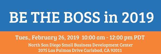 Image: Header for Be the Boss in 2019 workshop