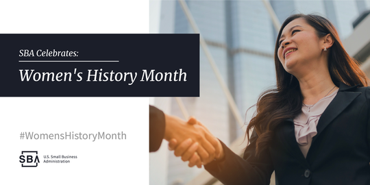 SBA Women's History Month graphic
