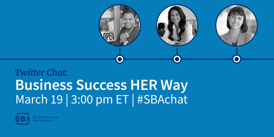 Business Success HER Way Twitter chat on March 19