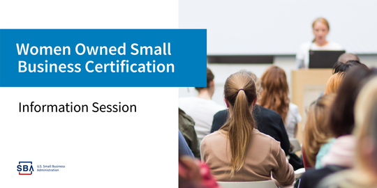 Women Owned Small Business Certification Session
