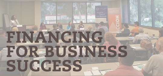 Image: Graphic Header for Accion's Financing for Business Success - San Diego Event