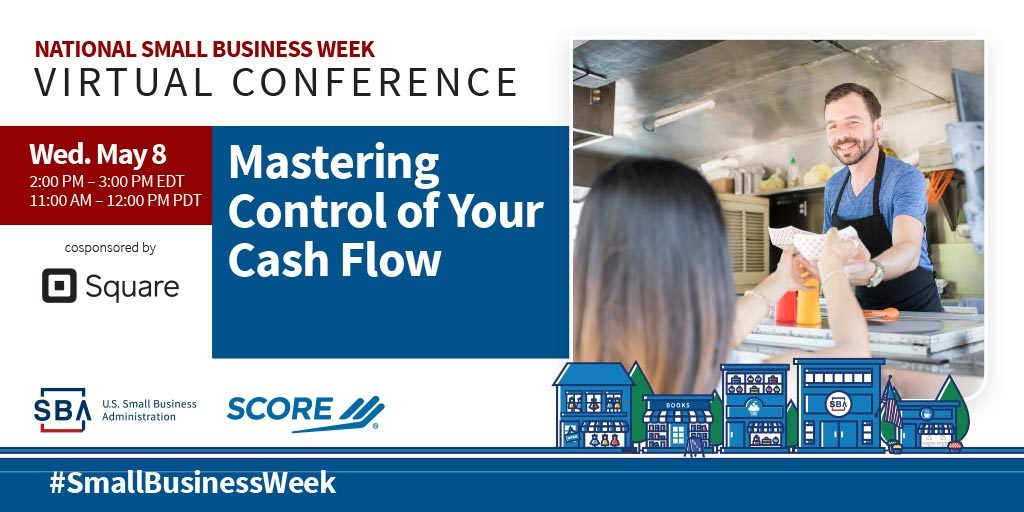 NSBW Virtual Conference webinar, Mastering Control of Your Cash Flow on May eighth at two pm eastern standard time