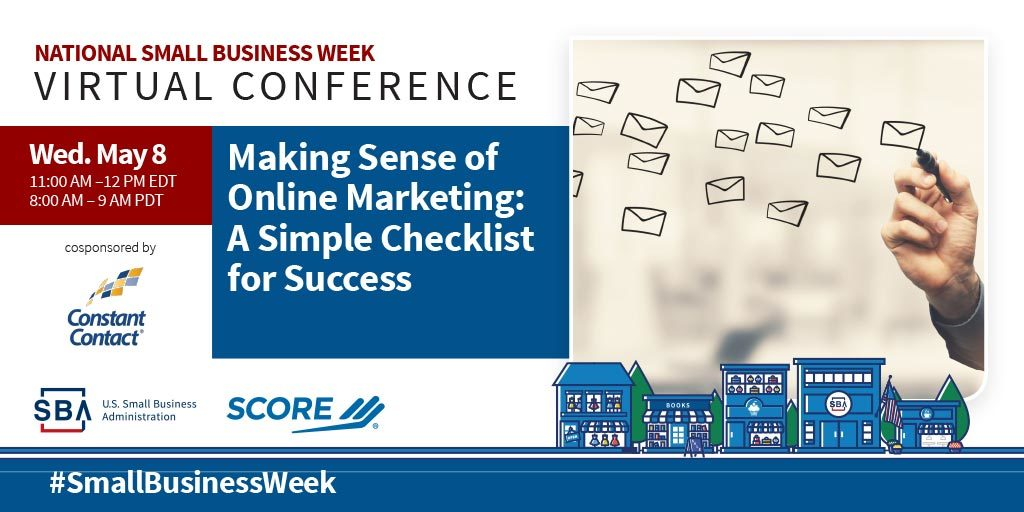 NSBW Virtual Conference webinar, Making Sense of Online Marketing: A Simple Checklist for Success on May eighth at eleven pm eastern standard time