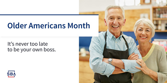 Graphic Header: Older Americans - It's never too late to be your own boss.